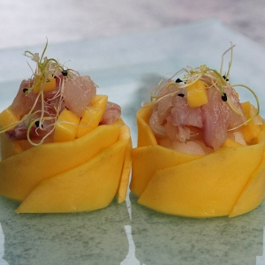 Duo de Lotus Mangue et son Tartare de Dorade Royale
